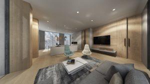 Penthouse living view the kamui niseko