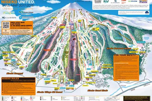 Niseko United Trail Map 2017-18