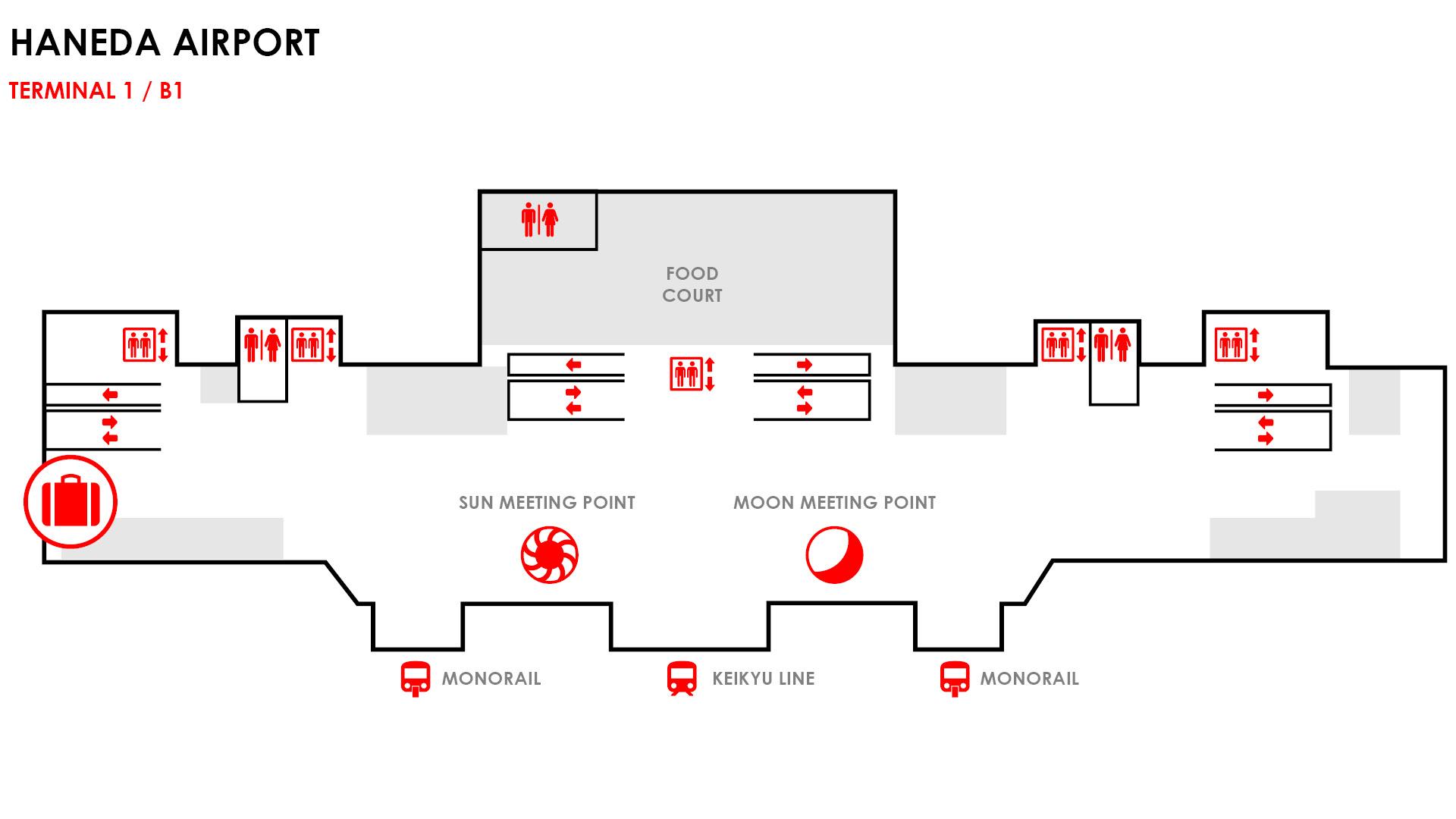 haneda airport baggage map